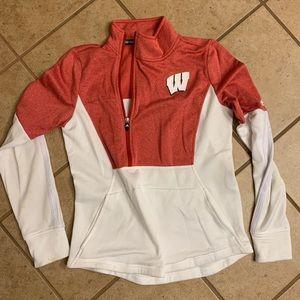 Wisconsin Adidas Quarter-zip, Size L